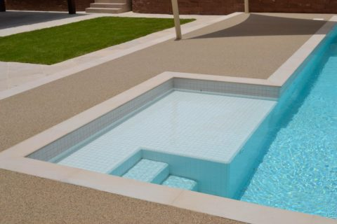 Resin Bound Flooring for Pool Deck in Private Villa | Making Ground