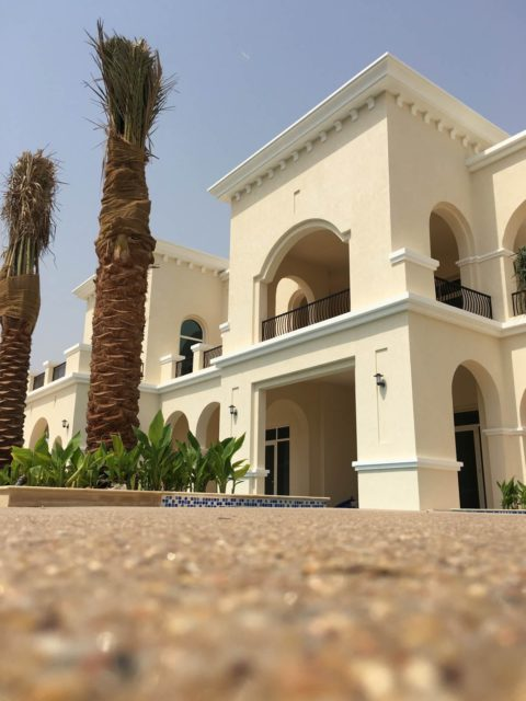 Resin Bounded Flooring | Private Villa in Emirates Hills | Making Ground