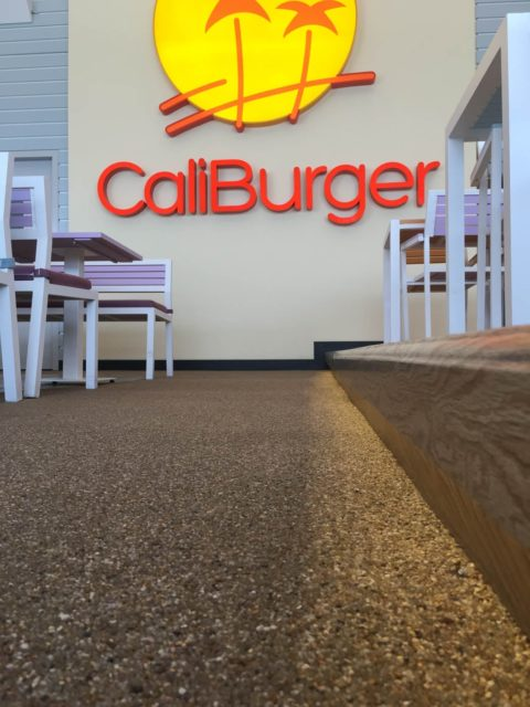 Resin Bound Flooring at Restaurant | CaliBurger | Making Ground