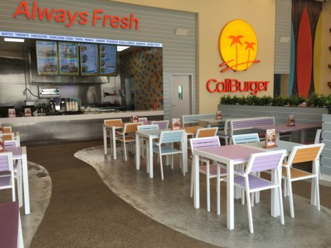 CaliBurger Restaurant Resin Bound Flooring | Making Ground Resin Flooring