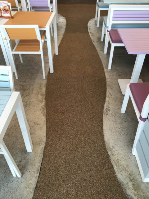 Resin Bound Flooring System | CaliBurger Restaurant | Making Ground